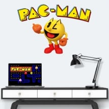 Vinyl and stickers retro video game pac-man