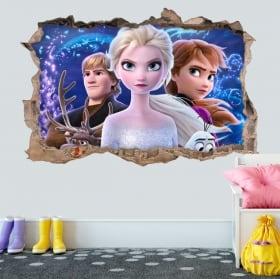 Decorative vinyls and 3d stickers disney frozen 2