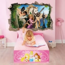 Vinyl and stickers disney hole 3d rapunzel