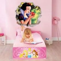 Vinyl and stickers disney hole 3d snow white