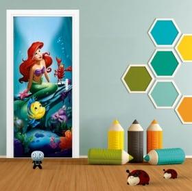 Vinyl for doors disney the little mermaid