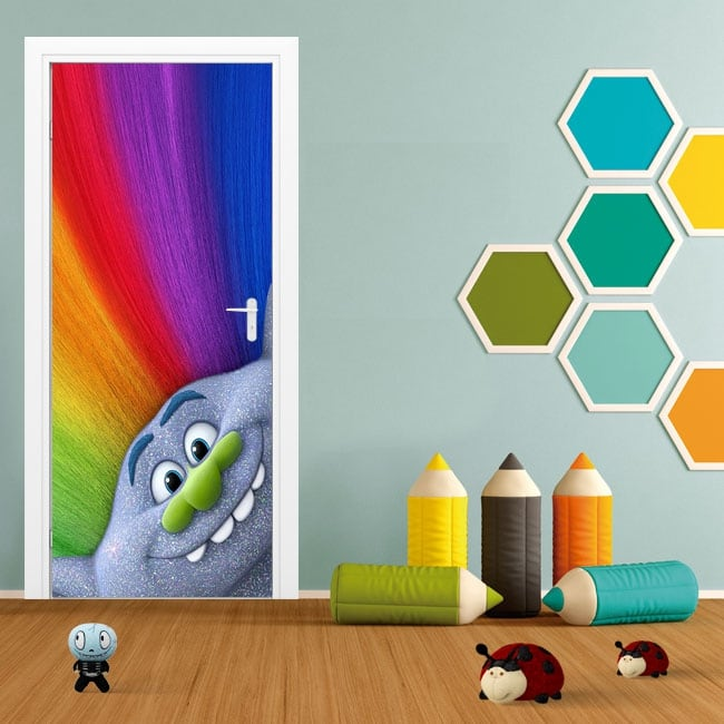 Stickers for doors and cabinets trolls