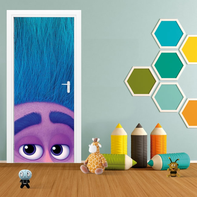 Decorative vinyl doors and cabinets trolls