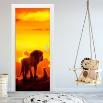 Vinyl for doors and cabinets disney the lion king