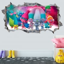Decorative vinyls and stickers 3d trolls