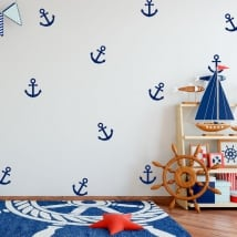 Vinyl and children's stickers kit anchors