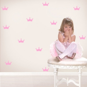 Children's vinyls and stickers princess crown kit