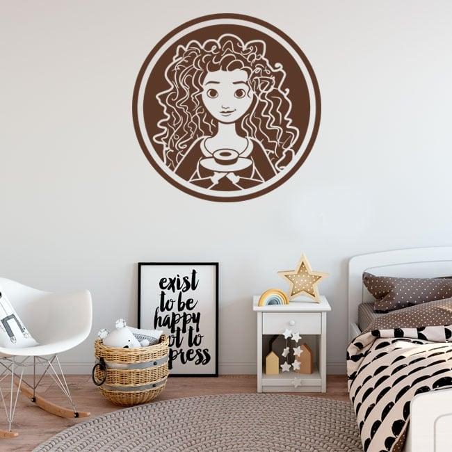 Decorative vinyls and stickers disney brave indomitable