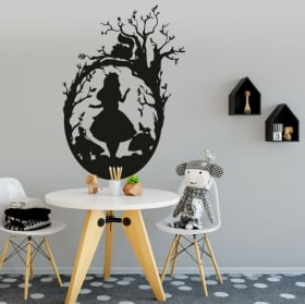 Vinyl and stickers alice in wonderland