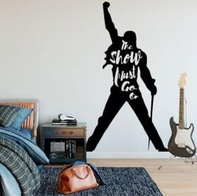Decorative vinyls and stickers queen freddie mercury