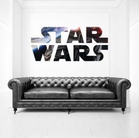 Decorative vinyl and stickers star wars logo