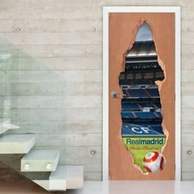 Vinyl for doors 3d real madrid stadium
