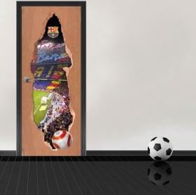 Vinyl for doors 3d stadium camp nou barcelona