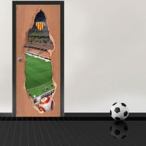 Vinyl 3d doors mestalla stadium valencia football club