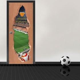 Vinyl 3d doors mestalla stadium valencia football club