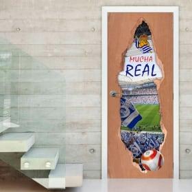 Vinyl doors 3d real society football stadium reale arena