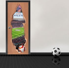 Vinyl 3d doors wanda metropolitano stadium atlético de madrid