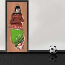 Vinyl doors 3d football stadium san mamés athletic club
