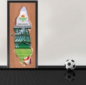Vinyl 3d doors benito villamarín football stadium real betis balompié