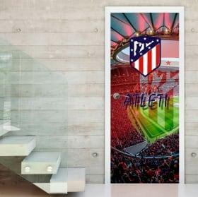 Vinyls for doors wanda metropolitano atletico madrid stadium