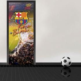 Vinyl for doors stadium camp nou barcelona