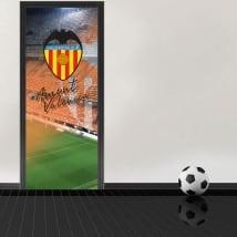 Vinyl for doors mestalla stadium valencia football club