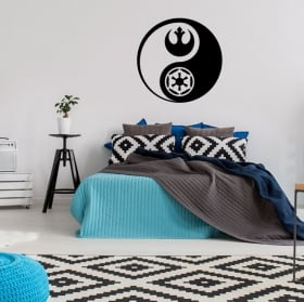Vinyls and stickers yin yang star wars