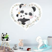 Decorative vinyls and children's stickers panda bears