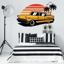Decorative vinyls and stickers retro style car