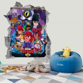 Vinyls and stickers 3d video game brawl stars