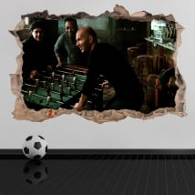 Vinyl stickers 3d football maradona with pelé and zidane