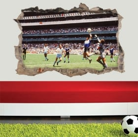 Vinyls and stickers 3d football maradona the hand of god