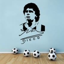 Maradona football stickers and vinyls