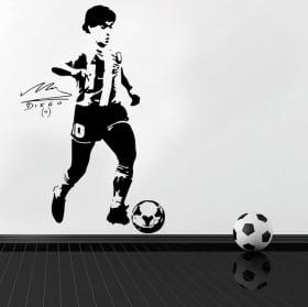 Decorative vinyls and stickers of football maradona