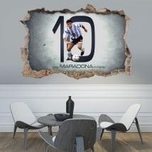 Adhesive vinyl 3d football maradona