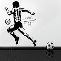 Vinyl stickers football maradona