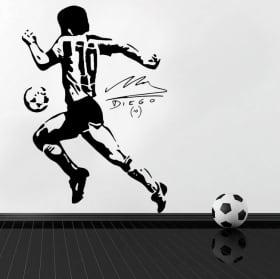 Vinyl stickers football maradona