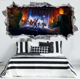Decorative vinyls and stickers 3d minecraft video game