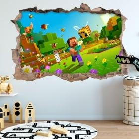 Minecraft video game 3d stickers