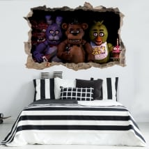 Vinyls and stickers 3d video game five nights at freddy's