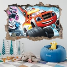 Vinyl stickers 3d blaze and the monster machines