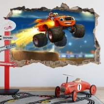 Stickers blaze and the monster machines 3d