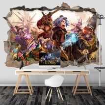 Vinyl stickers league of legends 3d