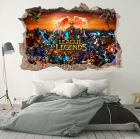 Decorative vinyl league of legends 3d
