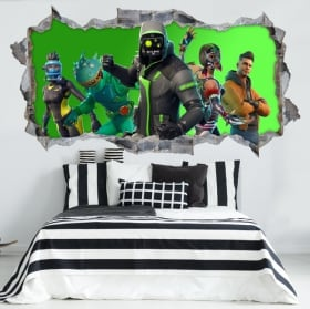 Hole wall 3d video game fortnite