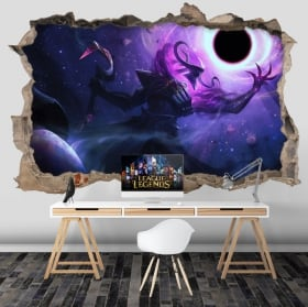 Vinyl and stickers league of legends 3d