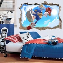 3d vinyls and stickers videogame sonic