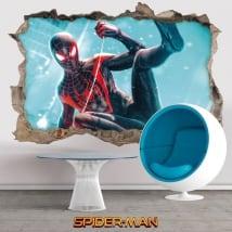 3d decorative vinyl miles morales spider-man