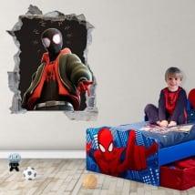 Adhesive vinyl miles morales spider-man 3d