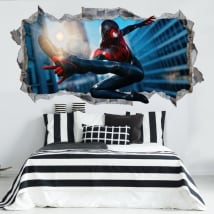 Vinyl stickers miles morales spider-man 3d